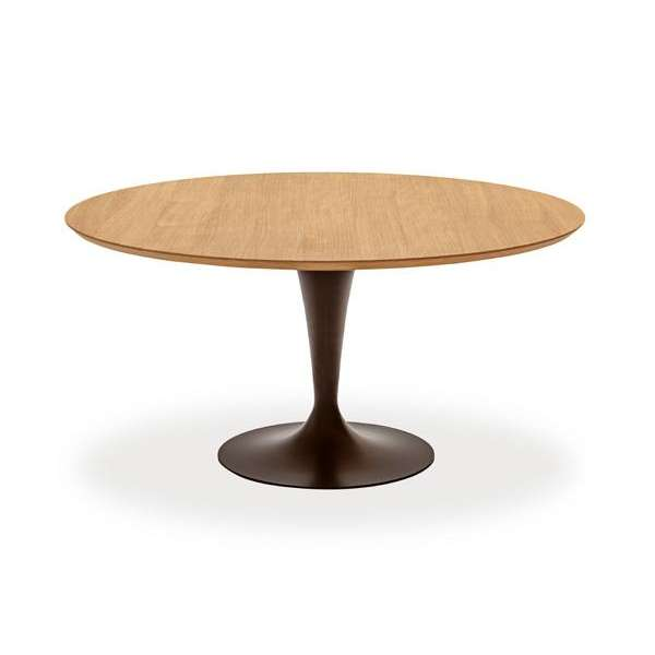Table ronde design plateau bois - Flute Sovet® 6 - 8