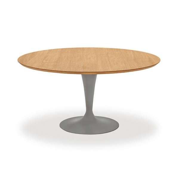 Table ronde design plateau bois - Flute Sovet® 7 - 9