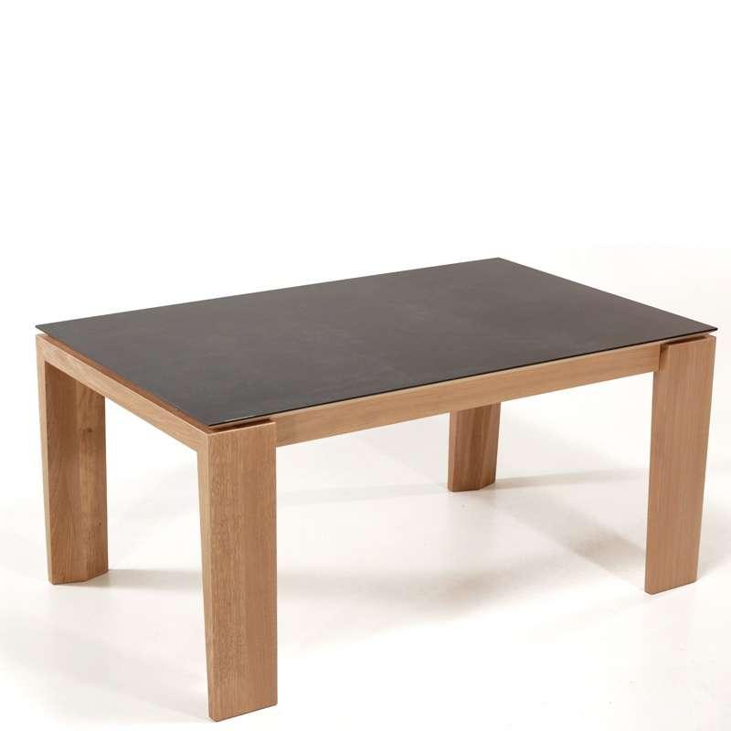 Table extensible en c ramique bakou 4 pieds tables for Table 4 personnes extensible