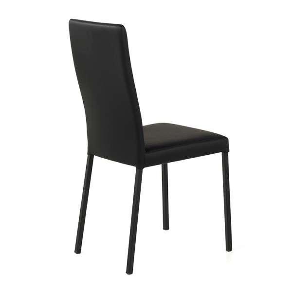 Chaise contemporaine en vinyl noir - Garda 3 - 4