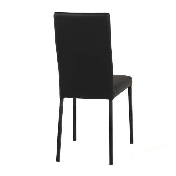 Chaise contemporaine en vinyl noir - Garda 4 - 5