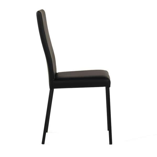 Chaise contemporaine en vinyl noir - Garda 2 - 3