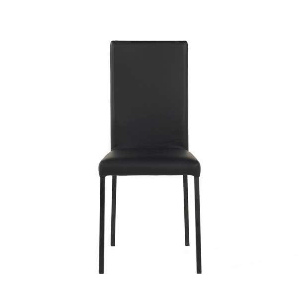 Chaise contemporaine en vinyl noir - Garda - 2