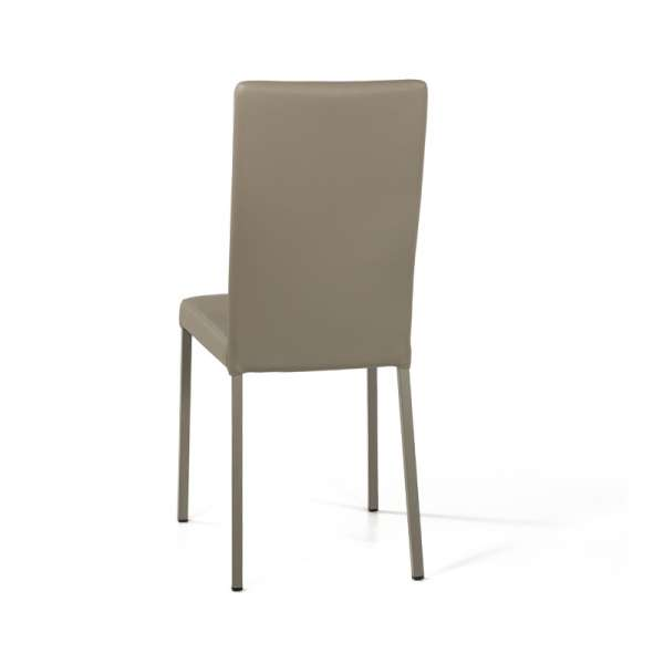 Chaise contemporaine en vinyl taupe - Garda 11 - 12