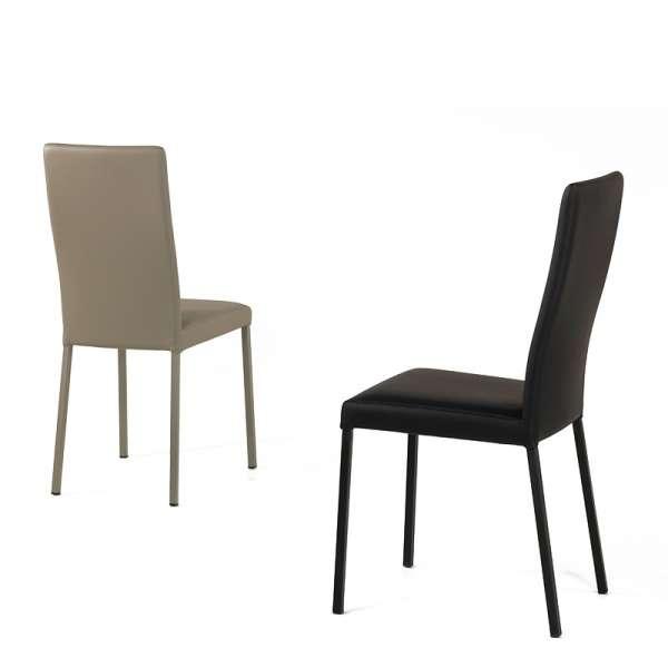 Chaise contemporaine en vinyl noir- Garda 8 - 9