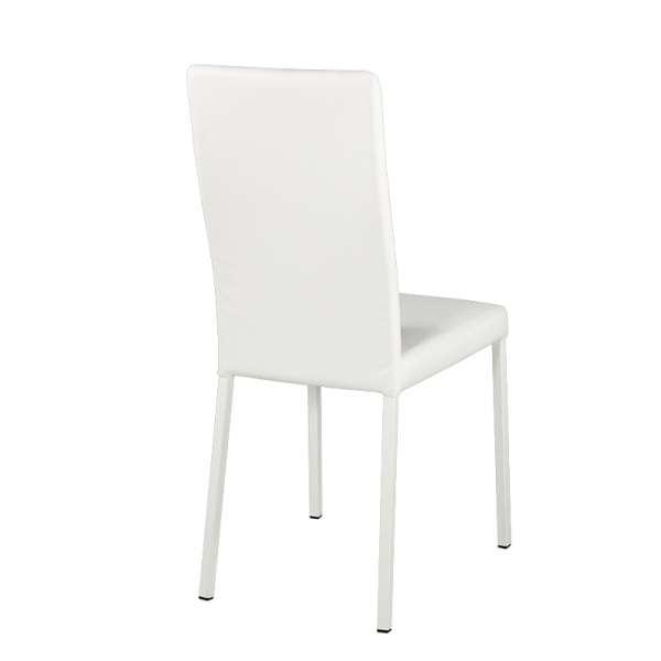 Chaise contemporaine en vinyl blanc - Garda 16 - 16