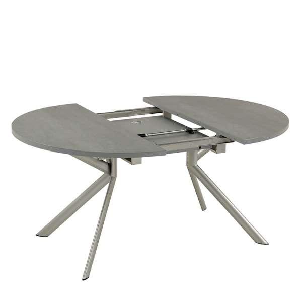 Table ronde extensible en c ramique giove 4 pieds for Table de sejour ronde