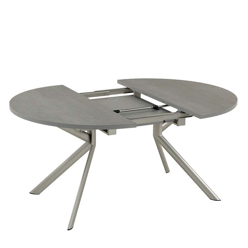 Table ronde extensible en c ramique giove 4 pieds for Table ronde extensible