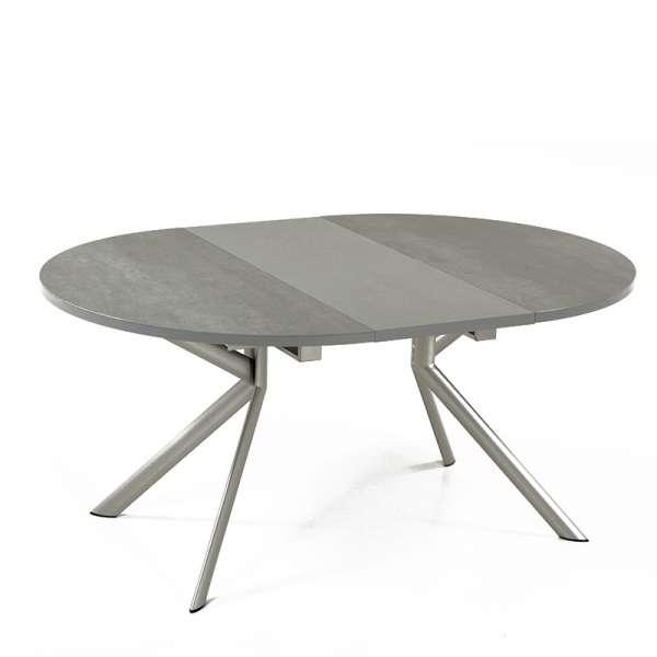 Table ronde en céramique grise extensible - Giove 4 - 5