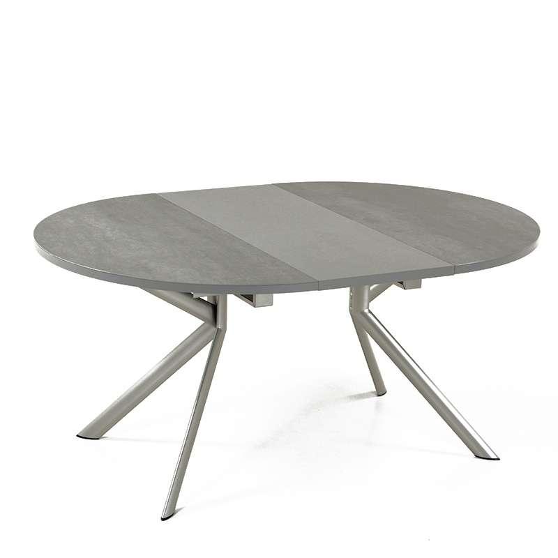 table ronde extensible en c ramique giove 4 pieds. Black Bedroom Furniture Sets. Home Design Ideas