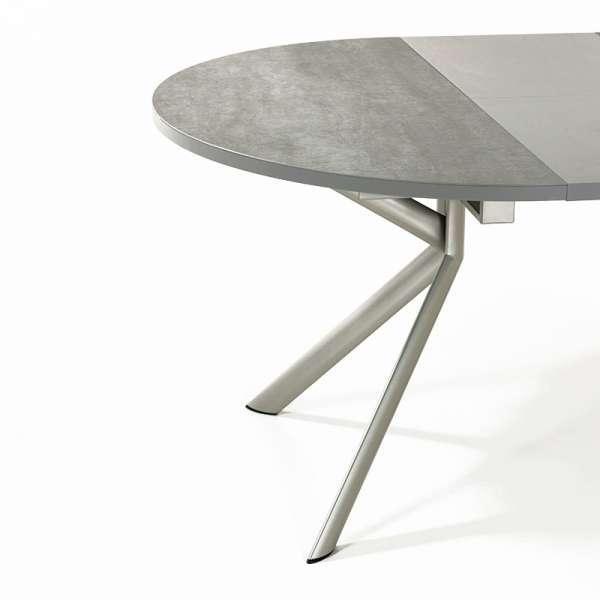 Table ronde en céramique grise extensible - Giove 5 - 6