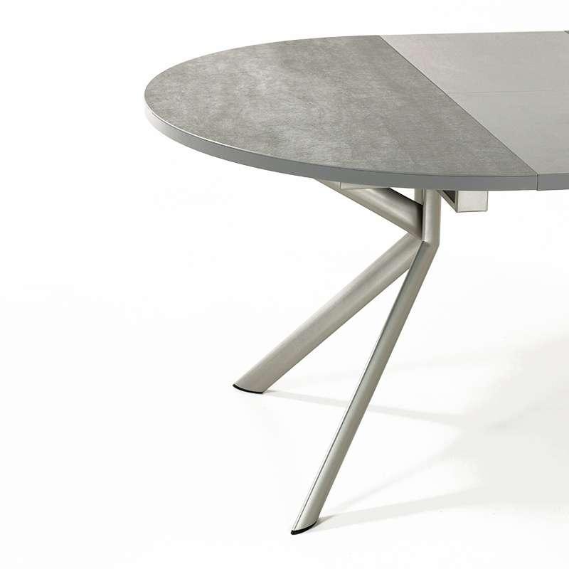 Table ronde extensible en c ramique giove 4 pieds for Table extensible 4 pieds