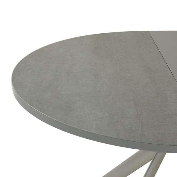 Table ronde en céramique grise extensible - Giove 6 - 7