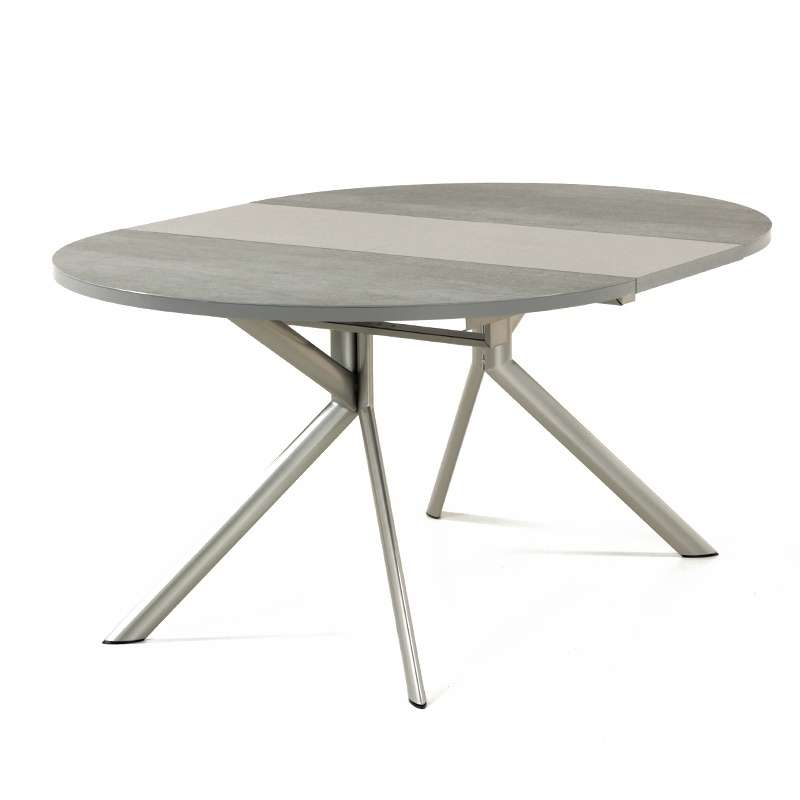 Table ronde extensible en c ramique giove 4 pieds for Table extensible 4 chaises