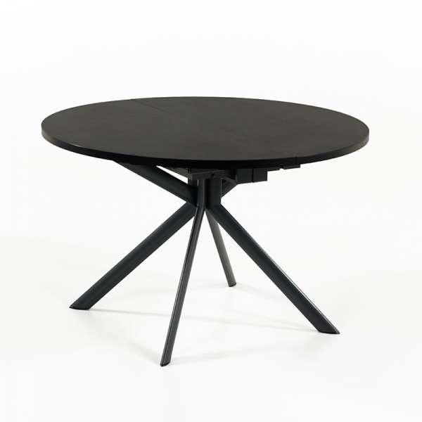 Table ronde en céramique noire extensible - Giove 9 - 10