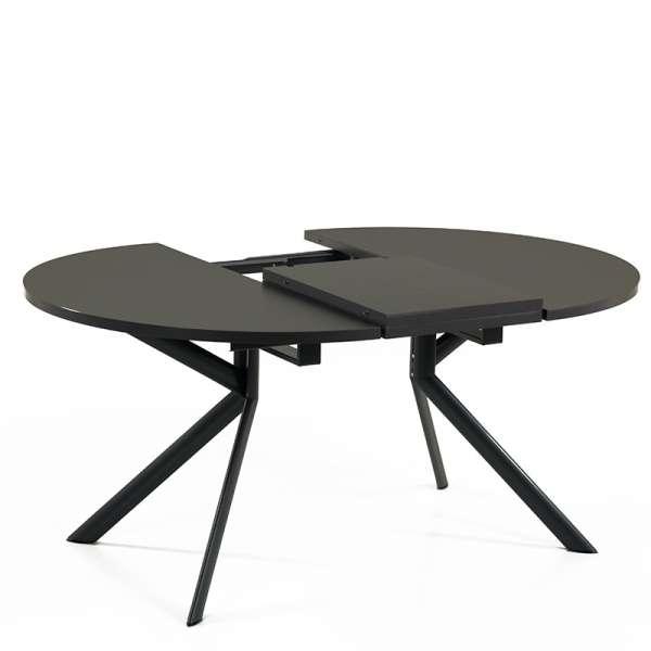 Table ronde en céramique noire extensible - Giove 11 - 12