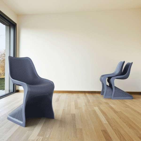 Chaise design ajourée en polypropylène - Bloom