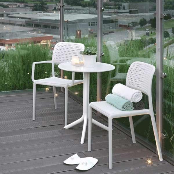 Chaise de jardin en polypropylène blanc - Bora Bistrot - 3