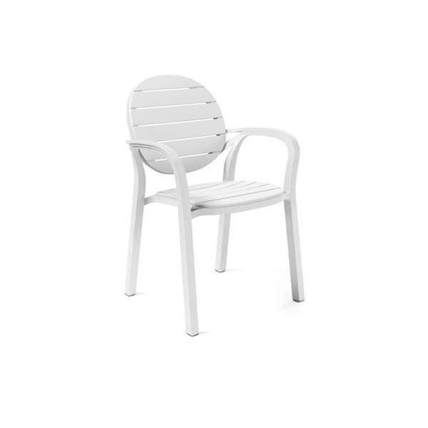 Fauteuil de jardin en polypropylène blanc - Palma - 3
