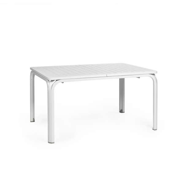Table de jardin extensible en polypropylène blanc - Alloro 140 - 5