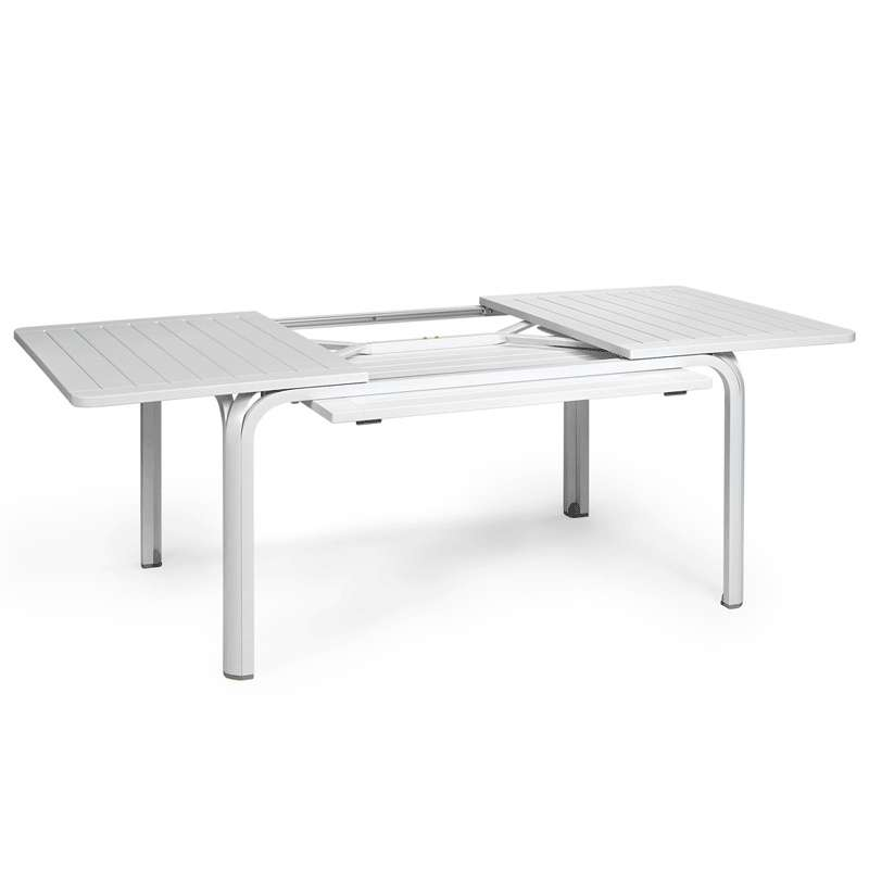 Table de jardin extensible en polypropyl ne et aluminium alloro 4 pieds tables chaises et Table de jardin alu avec rallonge