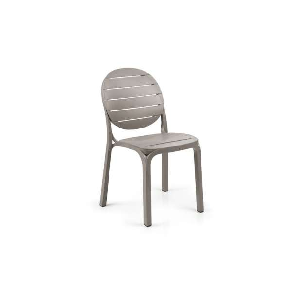 Chaise en polypropylène taupe - Erica - 6