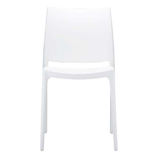 Chaise de jardin polypropylène blanc - Maya - 13
