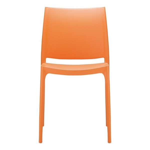 Chaise de jardin en plastique orange - Maya - 11