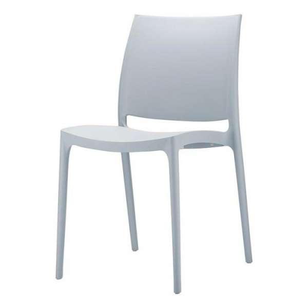 Chaise de jardin en polypropylène gris argent - Maya - 8