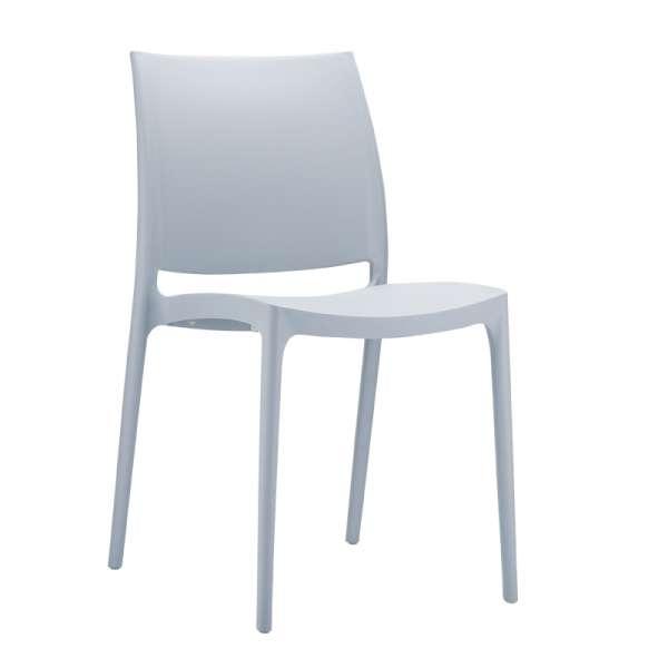 Chaise de jardin en polypropylène gris argent- Maya - 7