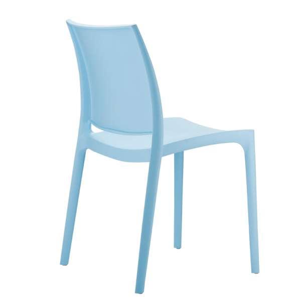 Chaise de jardin en plastique bleu - Maya - 16
