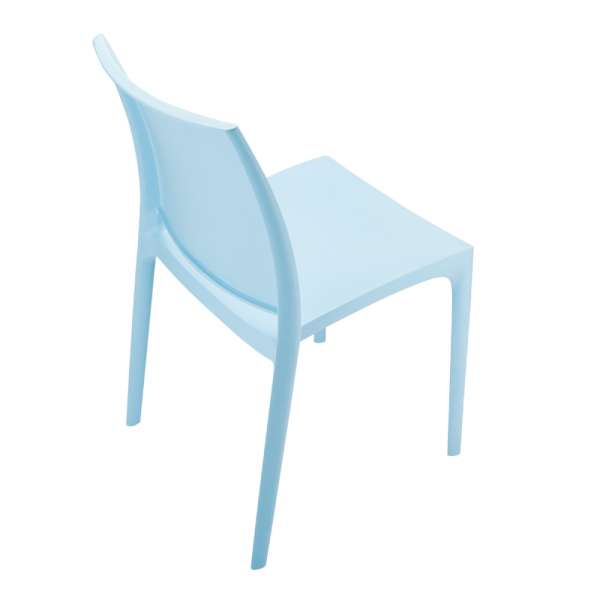 Chaise de jardin polypropylène bleu - Maya - 17