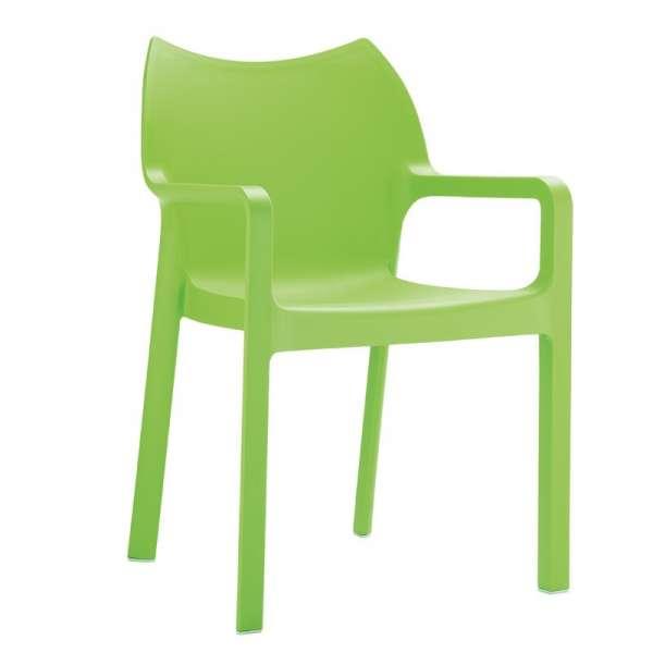 Fauteuil de jardin en polypropylène vert - Diva - 12