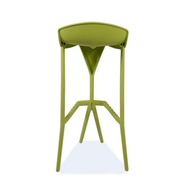 Tabouret de jardin en plastique vert - Shiver 3 - 9