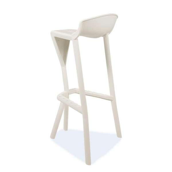 Tabouret de jardin design en plastique blanc - Shiver 2 - 21