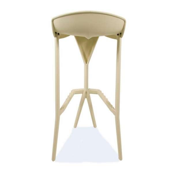 Tabouret de jardin design en plastique beige - Shiver 3 - 25