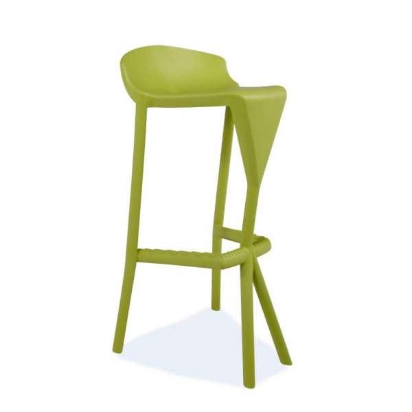 Tabouret de jardin design en plastique vert - Shiver - 7