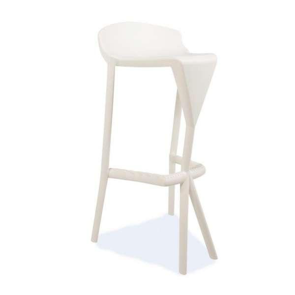 Tabouret de jardin en plastique blanc - Shiver - 20