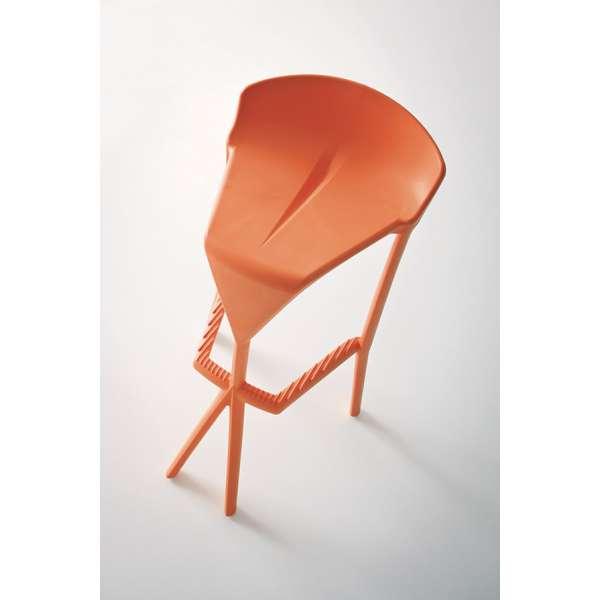 Tabouret de jardin en plastique orange - Shiver - 13