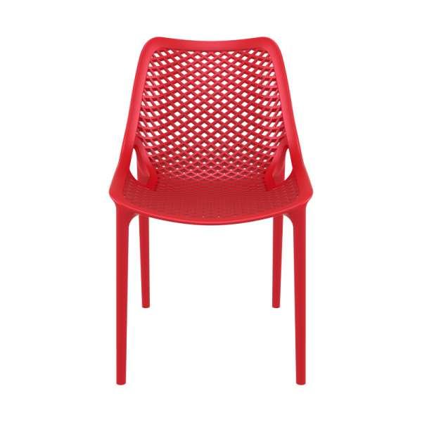 Chaise de jardin moderne ajourée plastique rouge - Air - 8