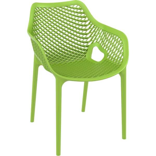 Fauteuil de jardin moderne ajouré en polypropylène vert - Air 18 - 20