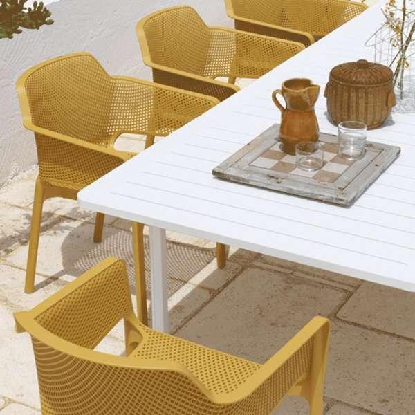 Fauteuil de terrasse moderne teinte moutarde - Net - 5