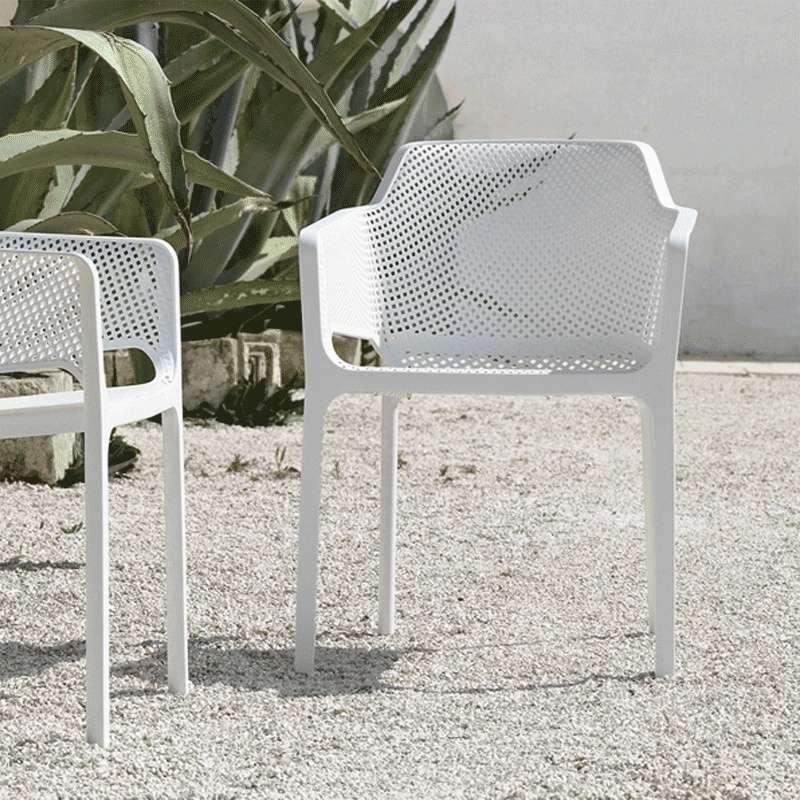 fauteuil de terrasse moderne en polypropyl ne net 4 pieds tables chaises et tabourets. Black Bedroom Furniture Sets. Home Design Ideas