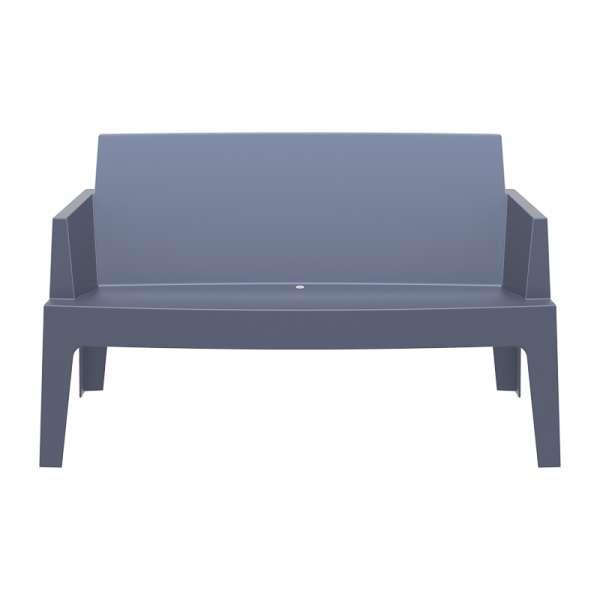 Banquette de jardin en polypropylène gris foncé - Box Sofa - 8