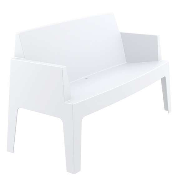 Banquette de jardin en plastique blanc - Box Sofa - 11