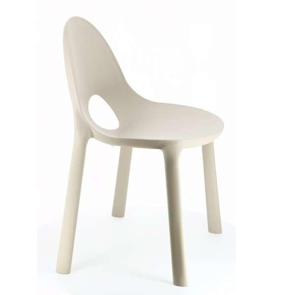 Chaise d'extérieur en plastique sable - Drop Infiniti® - 8