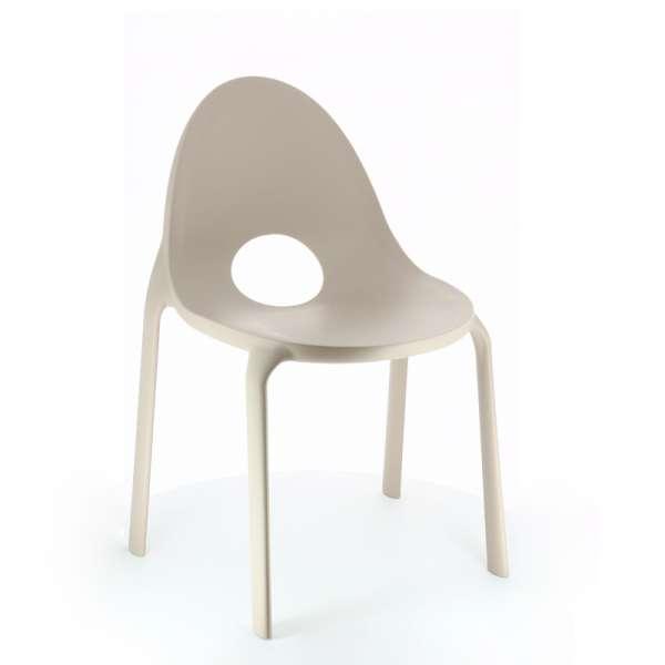 Chaise d'extérieur en polypropylène sable- Drop Infiniti® - 7