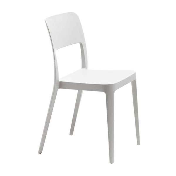 Chaise de terrasse en polypropylène blanc - Nené Midj® - 5