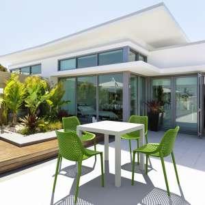 Table de terrasse carrée en polypropylène - Ares