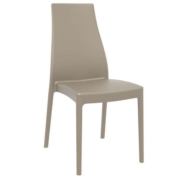 Chaise de jardin en polypropylène beige - Miranda - 9